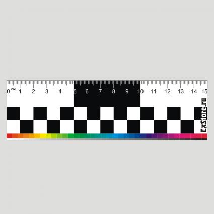 Линейка 15 см цветная